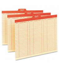 Smead Letter 1/5 Top Tab Charge-Out Record File Guides, Manila, 100/Box