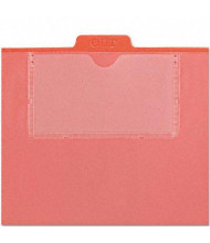 Smead 1/5 Top Tab Out File Guide with Letter Pockets, Red, 50/Box