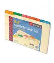 Smead Alphabetic 1/5 Top Tab Legal Index File Guide Set, Manila, 1 Set
