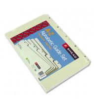 Smead Alphabetic 1/5 Top Tab Legal Index File Guide Set, Pressboard, 1 Set