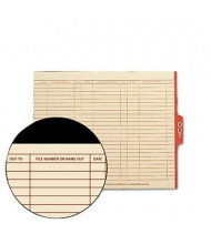 Smead Letter 1/5 Tab Out File Guides, Manila, 100/Box