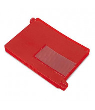 Smead Letter End Tab Out File Guide with Pockets, Red, 25/Box