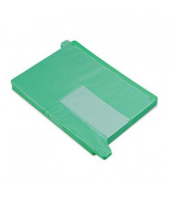 Smead Letter End Tab Out File Guide with Pockets, Green, 25/Box