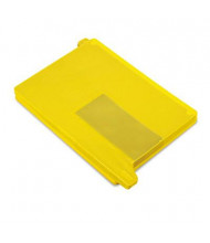 Smead Letter End Tab Out File Guide with Pockets, Yellow, 25/Box