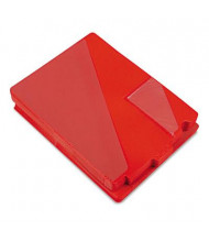 Smead Letter End Tab Out File Guide with Diagonal Pockets, Red, 50/Box