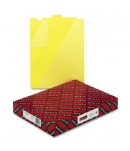 Smead Letter End Tab Out File Guide with Diagonal Pockets, Yellow, 50/Box