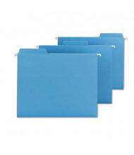 Smead Fastab Letter Hanging File Folders, Blue, 20/Box