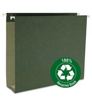 """Smead Letter Assorted 1-3"""" Box Bottom Hanging Files, Green, 25/Box"""