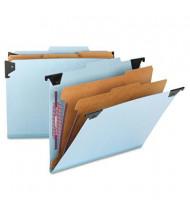 Smead 6-Section Letter 23-Point Pressboard Hanging Classification Folder, Blue, Each
