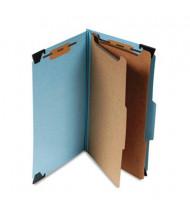 Smead 6-Section Legal 23-Point Pressboard Hanging Classification Folder, Blue, Each