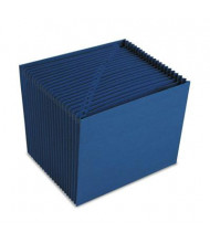 Smead 21-Pocket Letter Expanding Indexed Open Top Accordion, Navy Blue