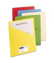 Smead Slash-Front Letter File Jackets with Pockets, Assorted, 25/Pack