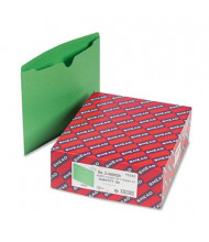 Smead Double-Ply Tab Flat Expansion Letter File Jackets, Green, 100/Box