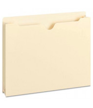 """Smead Double-Ply Top Tab 2"""" Expansion Letter File Jackets, Manila, 50/Box"""