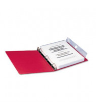 """Smead 9"""" x 11-1/5"""" Poly Three-Ring Binder Pockets, Clear, 3/Pack"""