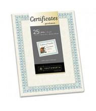"""Southworth 8-1/2"""" x 11"""", 24lb, 25-Sheets, Ivory Parchment Certificates"""