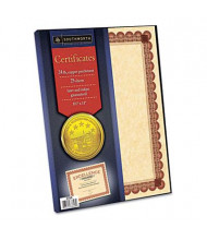 """Southworth 8-1/2"""" x 11"""", 24lb, 25-Sheets, Copper Parchment Certificates"""