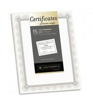 """Southworth 8-1/2"""" x 11"""", 66lb, 15-Sheets, Fleur Silver Foil Border Premium Certificates"""