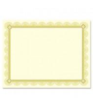 """Southworth 8-1/2"""" x 11"""", 66lb, 15-Sheets, Spiro Gold Foil Border Parchment Certificates"""