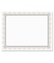 """Southworth 8-1/2"""" x 11"""", 66lb, 15-Sheets, Spiro Silver Foil Border Parchment Certificates"""