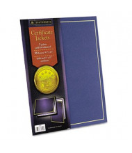 """Southworth 9-1/2"""" x 12"""" 5-Pack Gold Border Certificate Jacket, Navy"""
