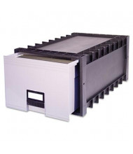 "Storex 24"" D Letter Archive Storage Box Drawer, Gray"