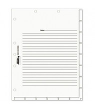 "Tabbies 8-1/2"" x 11"" Medical Chart Index Dividers, White, 400/Box"