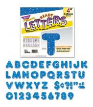 """Trend Ready Letters 4"""" H Blue Sparkle Letter Set, 72/Set"""