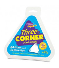 Trend Addition & Subtraction Three-Corner Flash Cards, 48/Pack