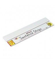 """Trend 24"""" x 3"""" Wipe-Off Sentence Strips, White, 30/Pack"""