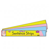 """Trend 24"""" x 3"""" Wipe-Off Sentence Strips, Assorted, 30/Pack"""