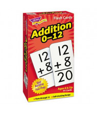 """Trend Addition Skill Drill Flash Cards, 3"""" x 6"""", 91/Pack"""