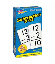 """Trend Subtraction Skill Drill Flash Cards, 3"""" x 6"""", 91/Pack"""