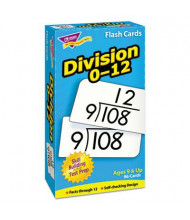 """Trend Division Skill Drill Flash Cards, 3"""" x 6"""", 91/Pack"""