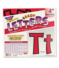 """Trend Ready Letters 4"""" H Red Playful Combo Set, 216/Set"""