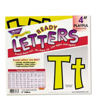 """Trend Ready Letters 4"""" H Yellow Playful Combo Set, 216/Set"""