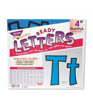 "Trend Ready Letters 4"" H Blue Playful Combo Set, 216/Set"