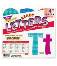 """Trend Ready Letters 4"""" H Assorted Colors Playful Combo Pack, 216/Set"""