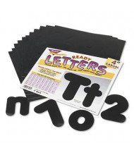 """Trend Ready Letters 4"""" H Black Casual Combo Set, 182/Set"""