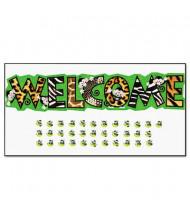 "Trend Monkey Mischief Welcome 81"" x 18"" Bulletin Board Set"