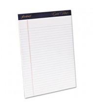 "Ampad 8-1/2"" X 11-3/4"" 50-Sheet 4-Pack Legal Rule Gold Fibre 20lb Pads, White Paper"