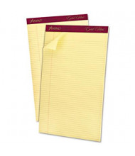 """Ampad Gold Fibre 8-1/2"""" X 14"""" 50-Sheet 12-Pack Narrow Rule Notepad, Canary Paper"""