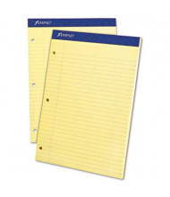 """Ampad 8-1/2"""" X 11-3/4"""" 100-Sheet Legal Rule Double Sheet Pad, Canary Paper"""
