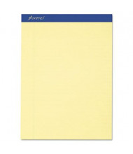 """Ampad 8-1/2"""" x 11-3/4"""" 50-Sheet 12-Pack Legal Rule Recycled Notepads, Canary Paper"""