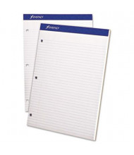 """Ampad 8-1/2"""" X 11-3/4"""" 100-Sheet College Rule Double Sheet Pad, White Paper"""