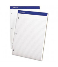 """Ampad 8-1/2"""" X 11-3/4"""" 100-Sheet Law Rule Double Sheet Pad, White Paper"""