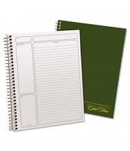 """Ampad 7-1/4"""" x 9-1/2"""" 84-Sheet Legal Rule Gold Fibre Wirebound Notebook, Green Cover"""