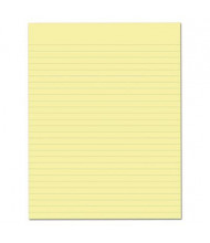 "Ampad 8-1/2"" X 11"" 50-Sheet 12-Pack Legal Rule Glue Top Pads, Canary Paper"