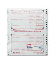 """TOPS 8-1/2"""" x 5"""" 6-Part Carbonless W-2 Tax Form, 24-Forms"""