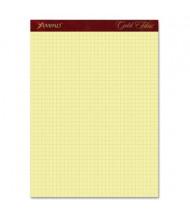"Ampad Gold Fibre 8-1/2"" X 11-3/4"", 50-Sheet, Canary Quadrille Pad"